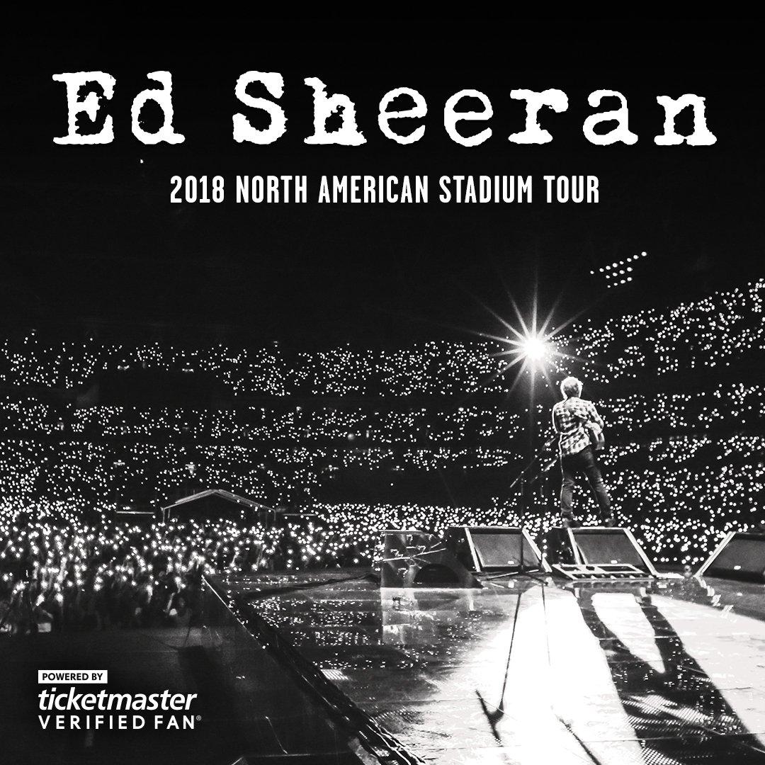TM Verified Presale Codes for ED Sheeran Tour