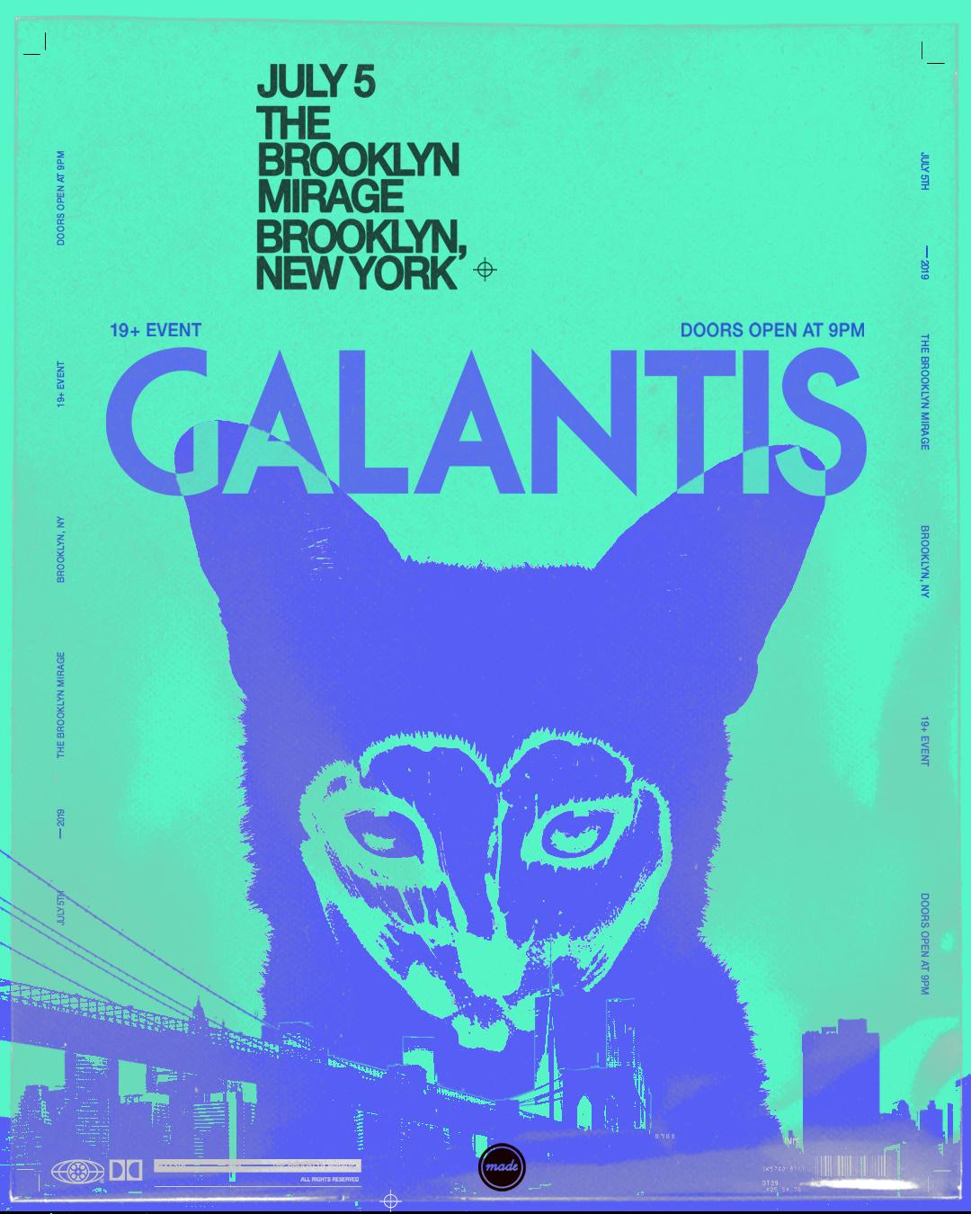 Presale Codes for GALANTIS BROOKLYN MIRAGE