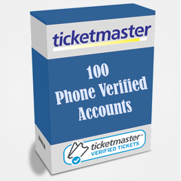 100 Phone Verified Ticketmaster Accounts
