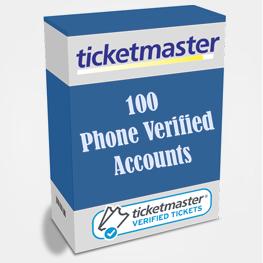 100 Phone Verified Ticketmaster Accounts